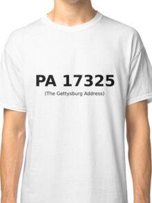PA 17325 (The Gettysburg Address) Classic T-Shirt