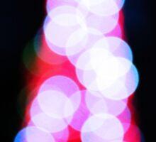 blurry christmas tree Sticker