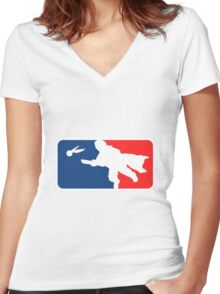 Major League Quidditch Women's Fitted V-Neck T-Shirt