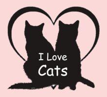 I love Cats Kids Tee