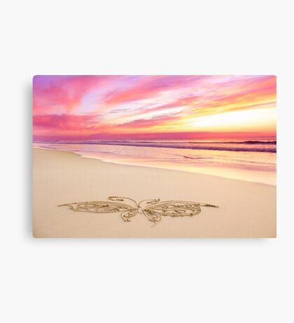 The Rose Quartz Butterfly Canvas Print