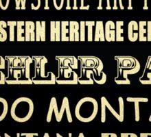 Billings Montana Famous Landmarks Sticker