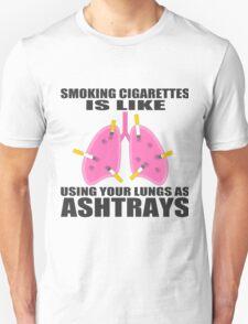Ashtray lungs Unisex T-Shirt