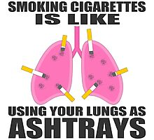 Ashtray lungs Photographic Print