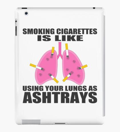 Ashtray lungs iPad Case/Skin