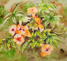 Orange Bellbing  Bouquet by tatoguzman