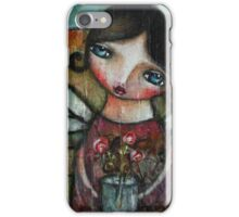 girl in the tuscany countryside iPhone Case/Skin