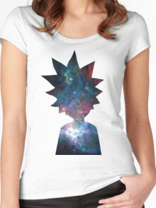 Rick and Morty Galaxy Design Women's Fitted Scoop T-Shirt