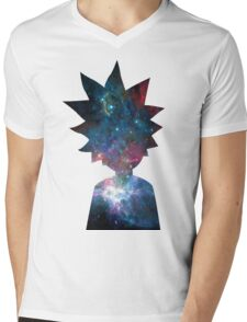 Rick and Morty Galaxy Design Mens V-Neck T-Shirt