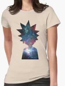 Rick and Morty Galaxy Design Womens Fitted T-Shirt