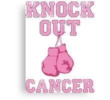 Knock Out Breast Cancer Canvas Print