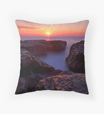 Suns Up at the Cauldron Throw Pillow