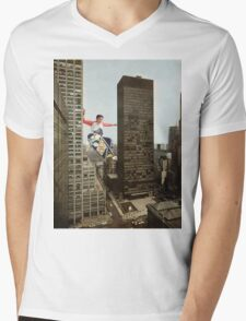 URBAN SK8. Mens V-Neck T-Shirt