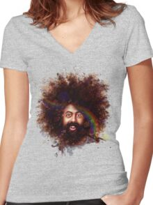 Reggie Watts Women's Fitted V-Neck T-Shirt