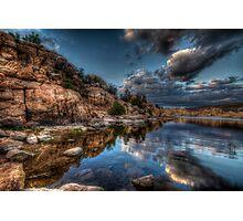 Rocks Vs Clouds Photographic Print