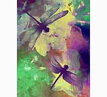Dragonflies & Orchids. Womens Fitted T-Shirt