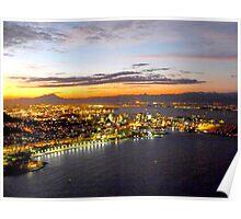 Rio de Janeiro after sunset Poster
