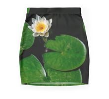 Blooming White lily pad flower Mini Skirt
