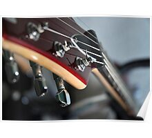 In the Silence...Song - Electric Guitar Neck Detail Poster