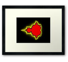 Earth People & Space Mandelbrot Framed Print