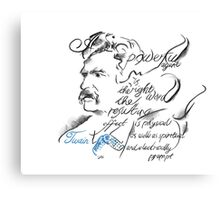 Mark Twain Picture Quote - The Right Word Canvas Print