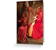 Ireland. County Clare. Knappogue Castle Medieval Banquet. Musicians. Greeting Card