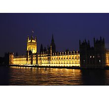 Westminster At Night Photographic Print