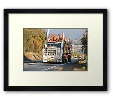 Logging to Hobart, Tasmania Framed Print