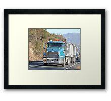 Macking to Hobart Framed Print