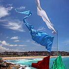 Foreshore flags at Bondi Beach by Chris Allen