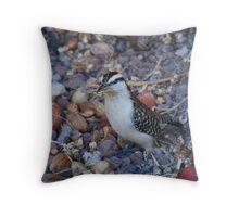 Nest Building! Throw Pillow