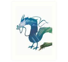 Haku Spirited Away Art Print