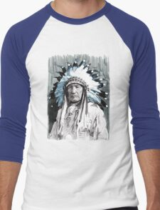 Native American Chief Men's Baseball ¾ T-Shirt