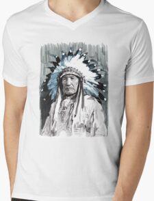 Native American Chief Mens V-Neck T-Shirt