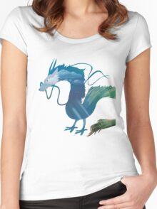 Haku Spirited Away Women's Fitted Scoop T-Shirt