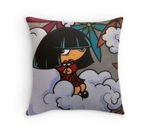 Sitting Lonely Throw Pillow