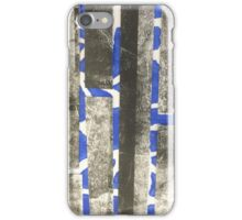 Blue and black print  iPhone Case/Skin
