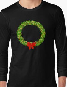 Holiday Wreath Long Sleeve T-Shirt