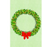 Holiday Wreath Photographic Print