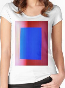 Blue on Red Women's Fitted Scoop T-Shirt