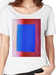 Blue on Red Women's Relaxed Fit T-Shirt