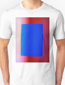 Blue on Red Unisex T-Shirt
