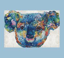 Colorful Koala Bear Art by Sharon Cummings One Piece - Short Sleeve