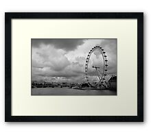London Eye - Black and White Framed Print