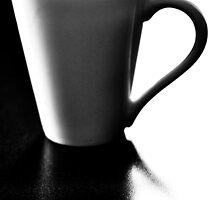 Black Coffee White Mug by Karen E Camilleri