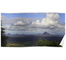 Glasshouse Mountains, Queensland Poster