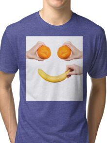 Fruits.Healthy life.Smiling Tri-blend T-Shirt
