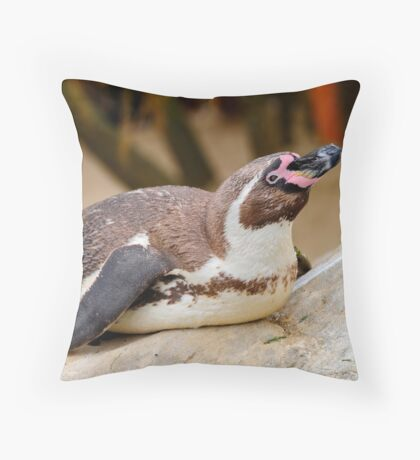 Humboldt penguin at Weymouth Sea Life Centre Throw Pillow