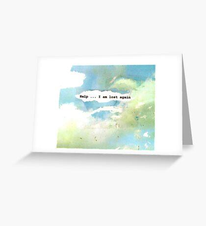 help' Greeting Card