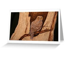 The Australian Powerful Owl Greeting Card